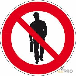 Señal prohibido prospectar