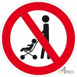Señal prohibido a los cochecitos
