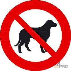 Señal prohibido a los perros