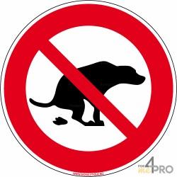 Señal de prohibición de las deyecciones caninas