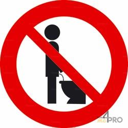 Señal Prohibido orinar 1