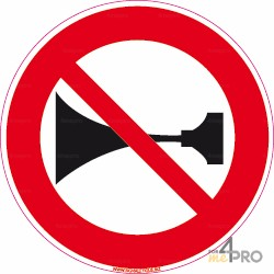 Señal Prohibido pitar