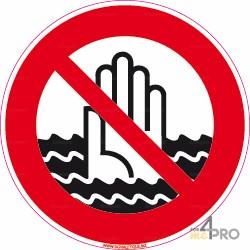 Señal de prohibición - Riesgo de ahogo