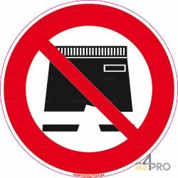 Señal bañador pantalón prohibido