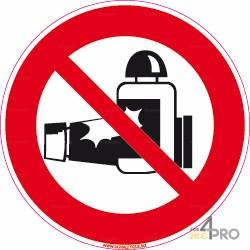 Señal redonda protección solar prohibida