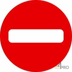 Señal dirección prohibida