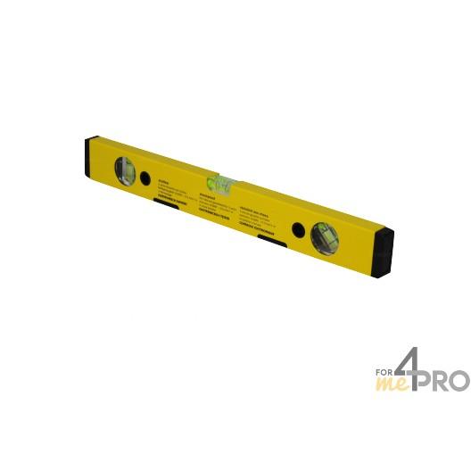 Nivel de perfil de aluminio amarillo magnético 40 cm