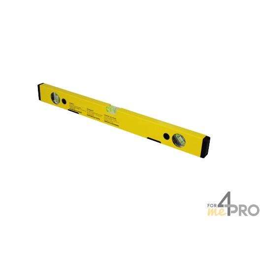 Nivel de perfil de aluminio amarillo magnético 50 cm