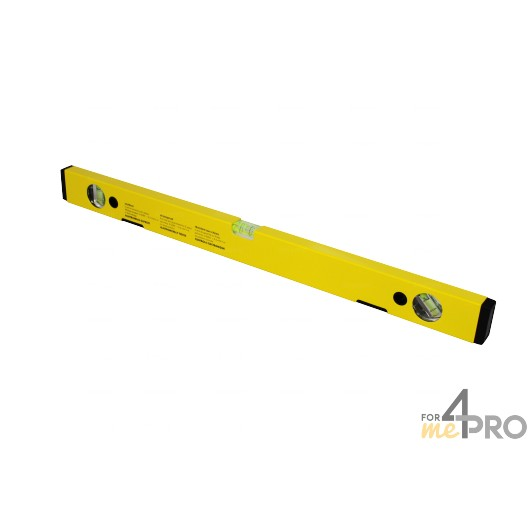 Nivel de perfil de aluminio amarillo magnético 60 cm