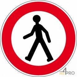 Señal redonda entrada prohibida a peatones - 1