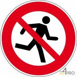 Señal prohibido correr