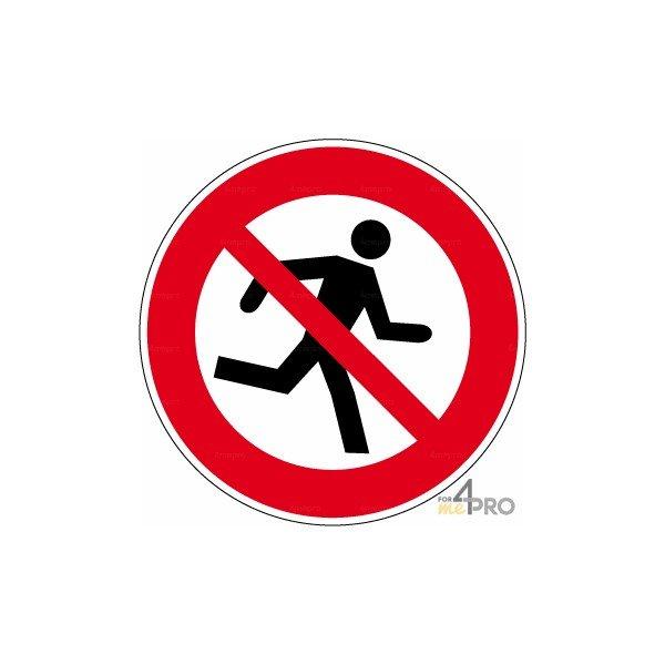 Señal prohibido de correr - 4mepro