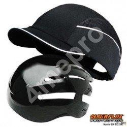 Gorra de seguridad Top short negra NF EN812 A1