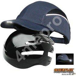 Gorra de seguridad con Led azul marino NF EN812 A1