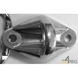 Platina de anclaje de aluminio Securifix - EN 795- A1