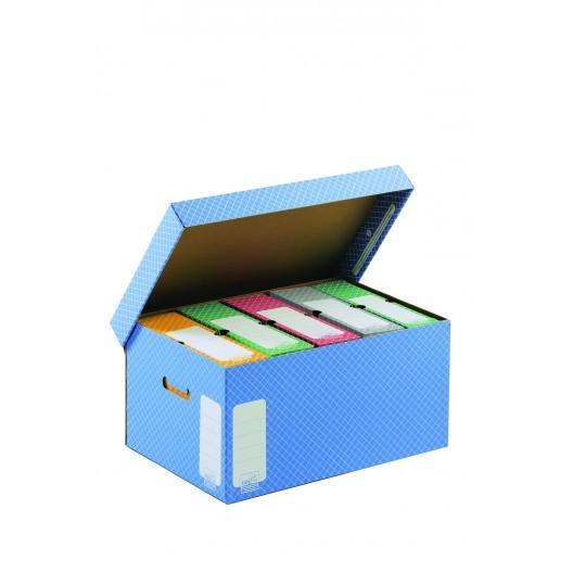Contenedores de Archivo gris con tapa 43 x 33,5 x 27 cm