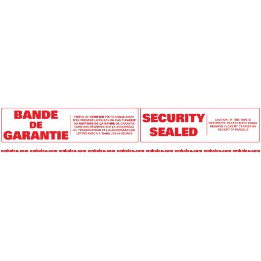 Cinta adhesiva de seguridad