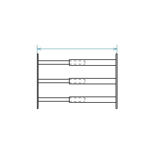 Red desde seguridad telescópica desde 99 hasta 188 cm de largo para ventana desde 39 hasta 52 cm de alto