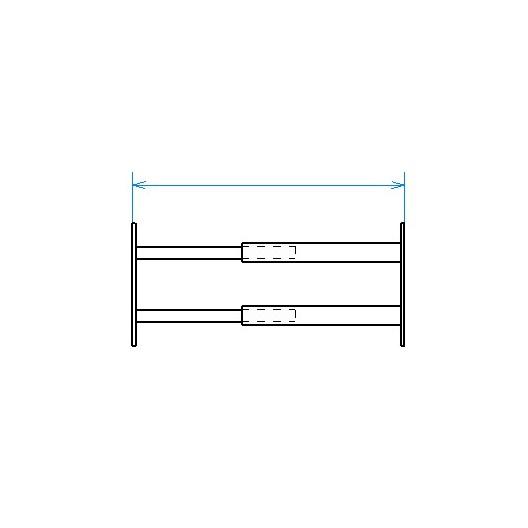 Red desde seguridad telescópica desde 99 hasta 188 cm de largo para ventana desde 26 hasta 39 cm de alto