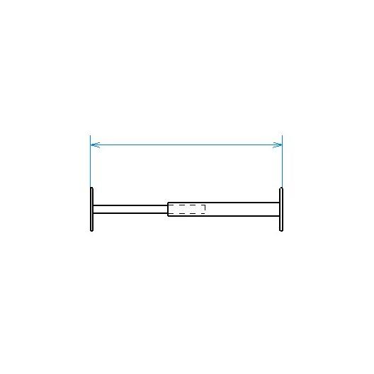 Red desde seguridad telescópica desde 99 hasta 188 cm de largo para ventana desde 13 hasta 26 cm de alto