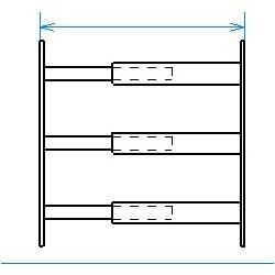 Red desde seguridad telescópica desde 55 hasta 103 cm de largo para ventana desde 39 hasta 52 cm de alto