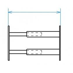 Red desde seguridad telescópica desde 55 hasta 103 cm de largo para ventana desde 26 hasta 39 cm de alto