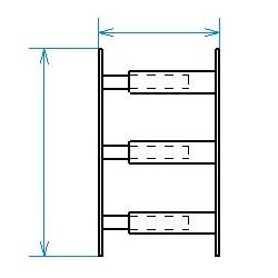 Red desde seguridad telescópica desde 30 hasta 55 cm de largo para ventana desde 39 hasta 52 cm de alto