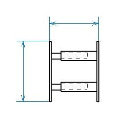 Red desde seguridad telescópica desde 30 hasta 55 cm de largo para ventana desde 26 hasta 39 cm de alto