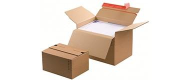 Caja de cartón paletizable para el sector del automóvil